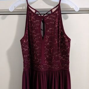 Wine colored Formal Dress